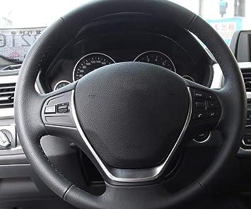 Chromed Steering Wheel Cover Automotive Decoration For Toyota RAV4 2013-2017
