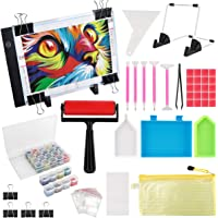 (59PCS) Diamond Painting A4 LED Light Pad Kit,DIY Dimmable Light Brightness Board,LED Artcraft Tracing Light Table…