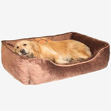 AIICIOO® Cama grande para perro para invierno capa para mantener caliente mascota sofá con borde