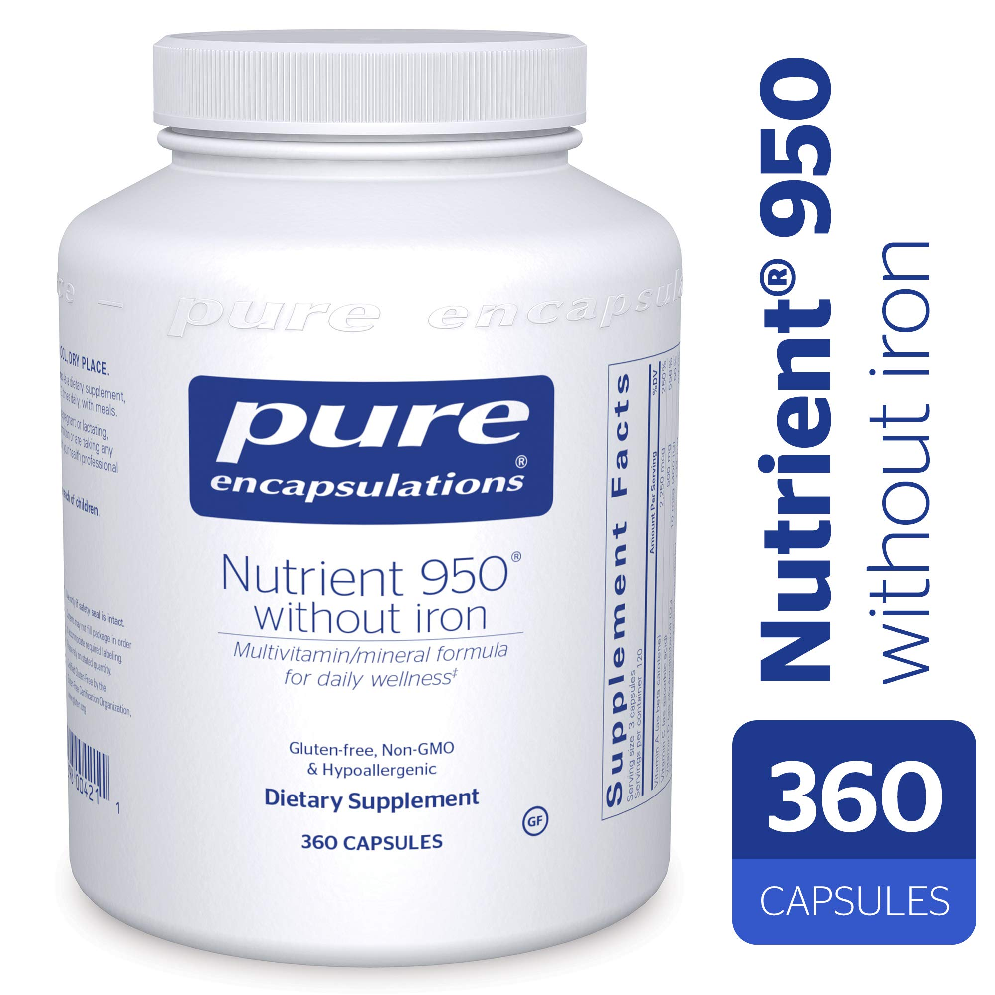 Pure Encapsulations - Nutrient 950 Without Iron (360 Count)
