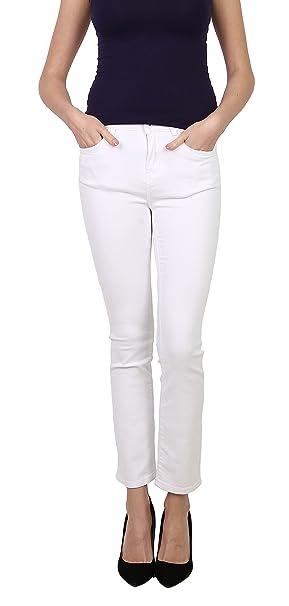 Toxik3 Femme Jean Slim Blanc Pantalon Denim Stretch Jeggings Casual Taille S e87dac25c5cd