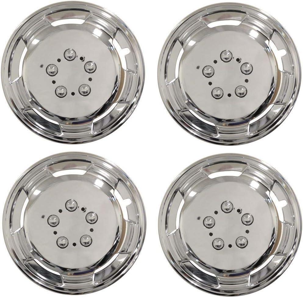 Leisurewize 15 Universal Deep Dish Chrome Van Wheel Trims x4