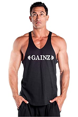 453a49e87400b3 Men s GAINZ Fitness Y Back Stringer Tank Top for Body Building - Made in  the USA