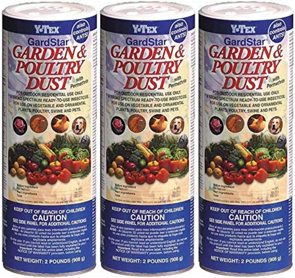 (3 Pack) Y-Tex Poultry Dust 2 Pounds Each