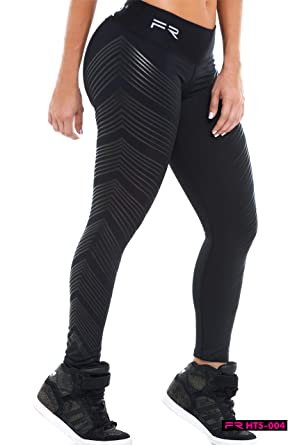 2a4c78f4c045a Amazon.com: Fiber Leggings Colombian Yoga Pants Compression Tights Black:  Clothing