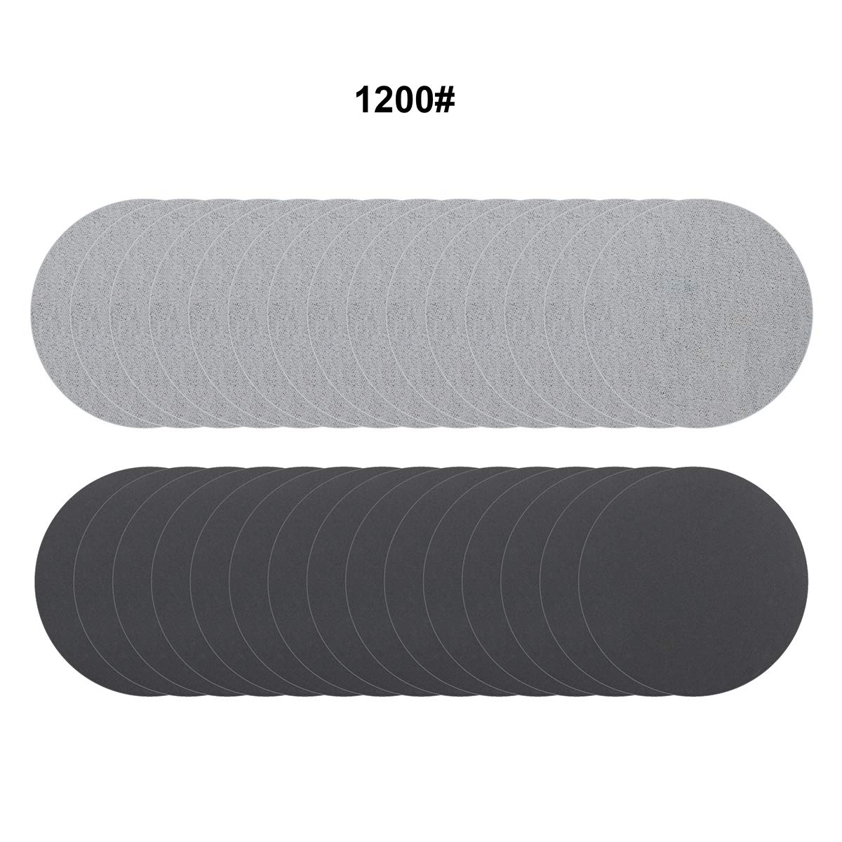 MAXMAN 30PCS 3 Inch Sanding Disc,600 Grit Sandpapers for Drill and Grinder Rotary,Dry /& Wet Grinding Disc Hook and Loop,Abrasive Pads for Wood and Metal