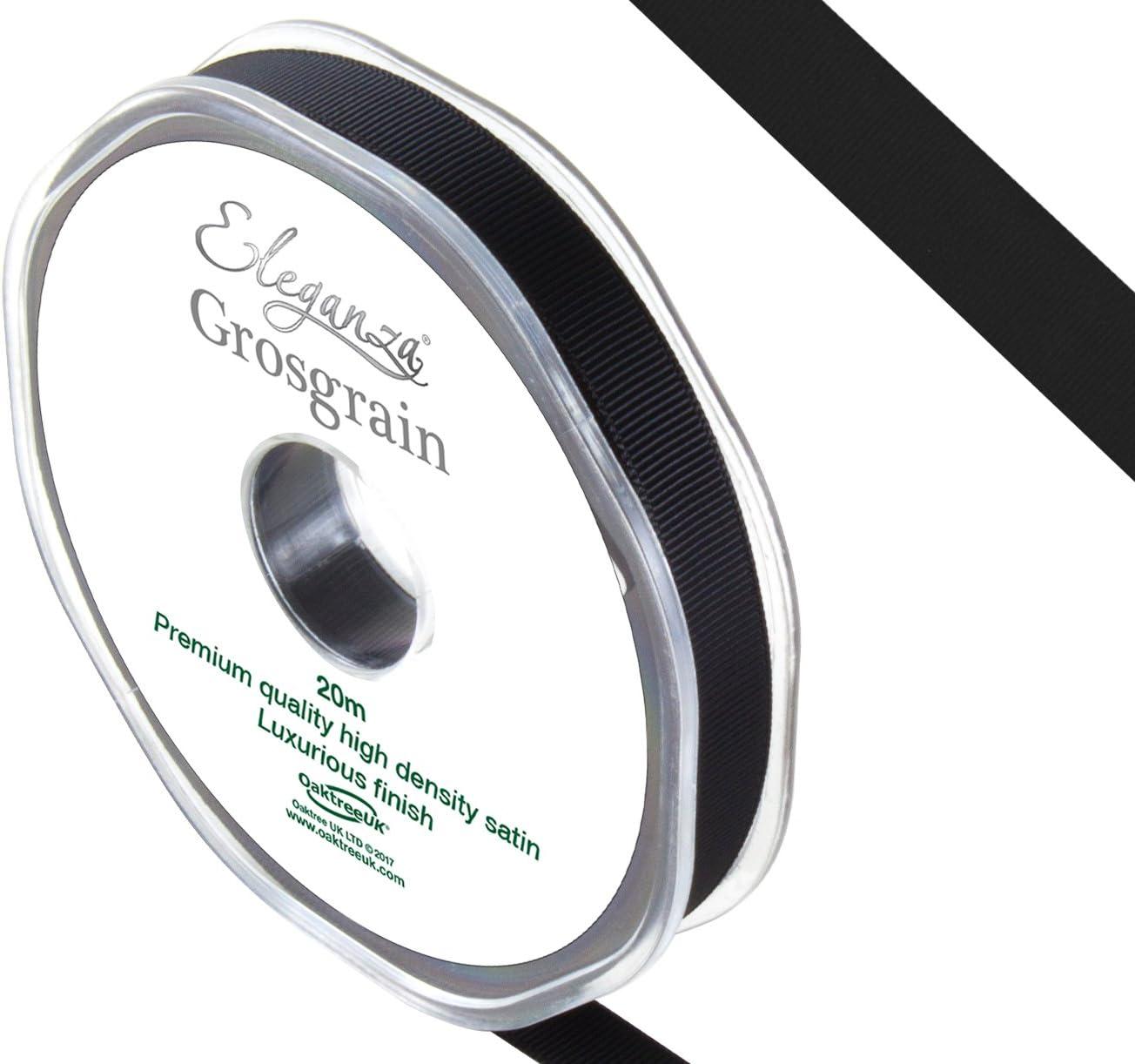 11/x 11/x 1/cm Eleganza Grosgrain qualit/à Premium in Raso Nero