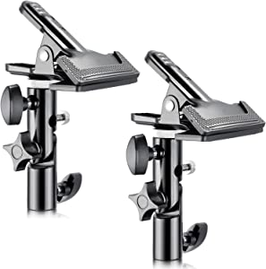 """Neewer 2 PCS Photo Studio Heavy Duty Metal Clamp Holder with 5/8"""" Light Stand Attachment for Reflector"""