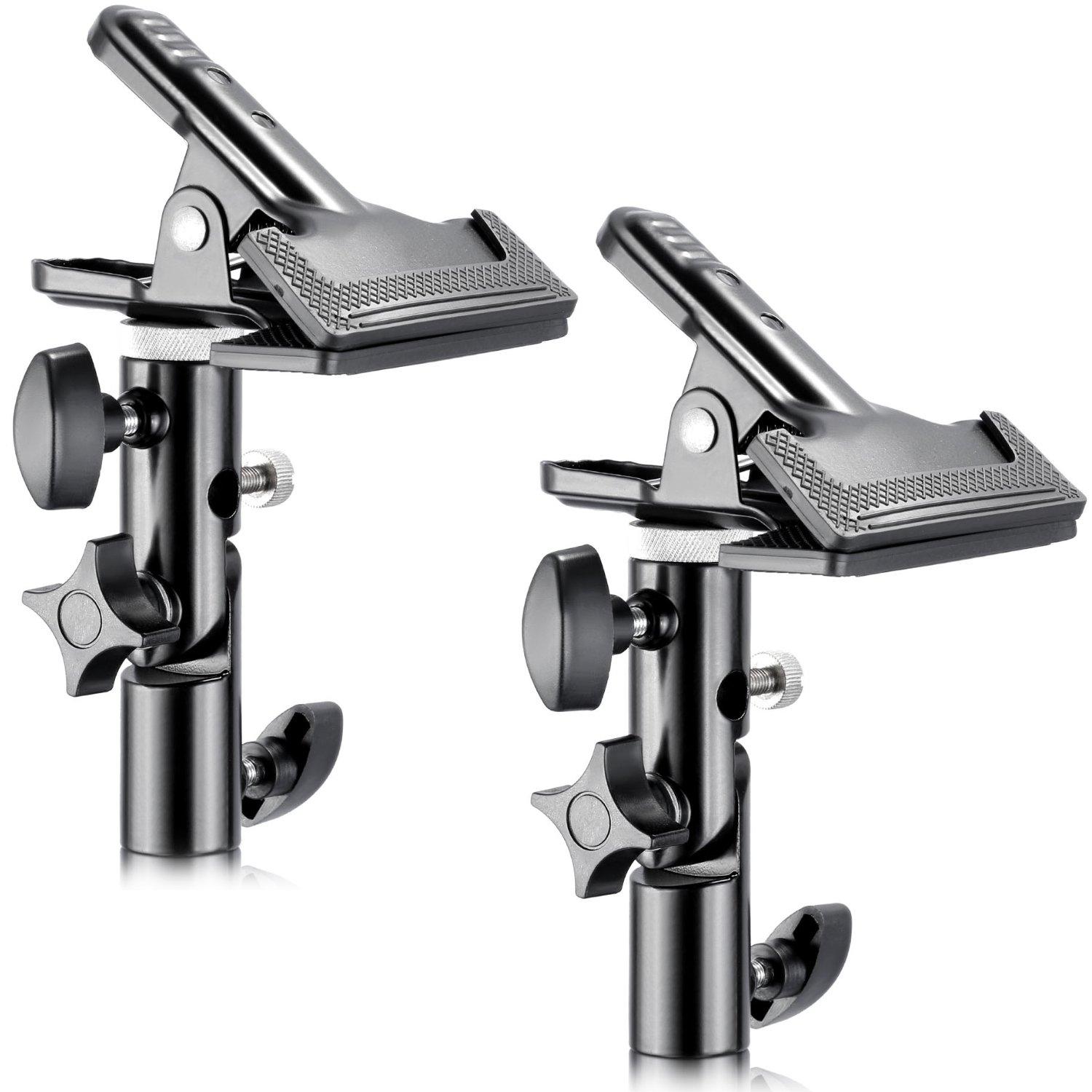 Neewer 2 PCS Photo Studio Heavy Duty Metal Clamp Holder with 5/8'' Light Stand Attachment for Reflector by Neewer