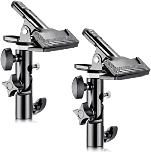 """Neewer® 2 PCS Photo Studio Heavy Duty Metal Clamp Holder with 5/8"""" Light Stand Attachment for Reflector"""