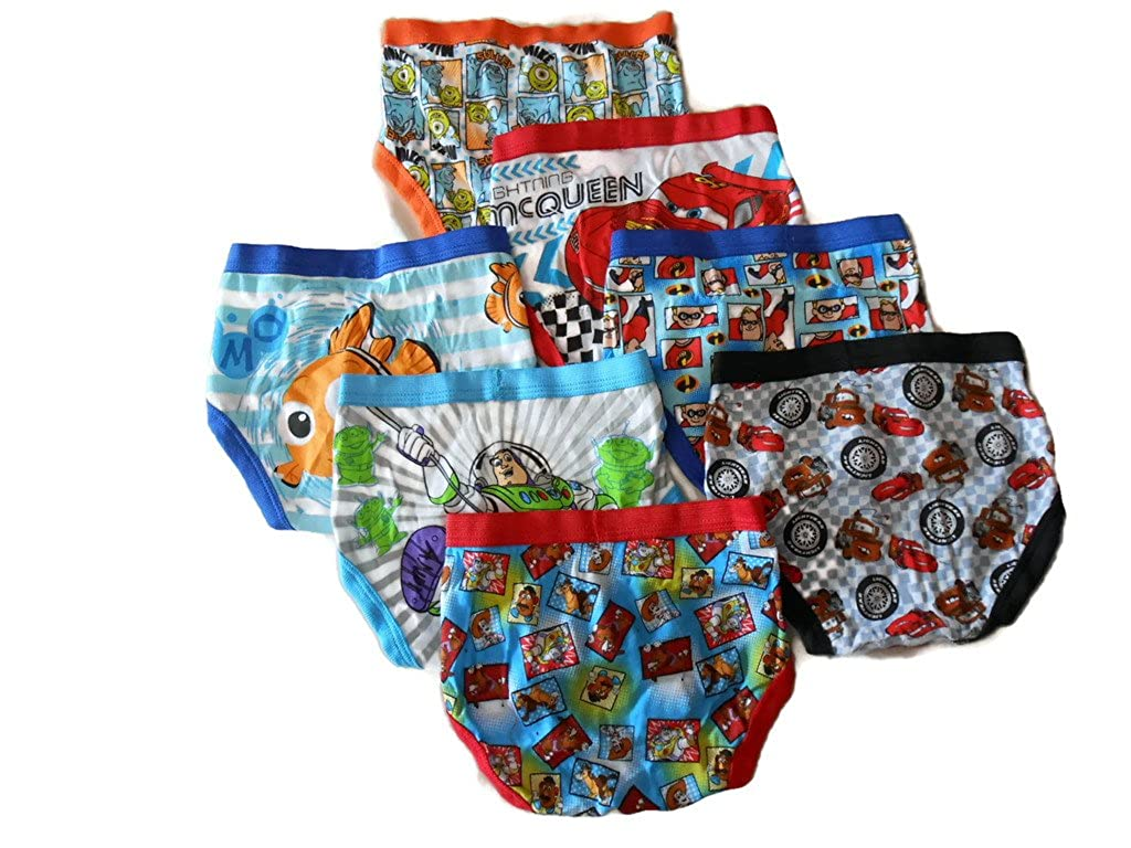 Disney Little Boys Pixar 7-Pack Brief