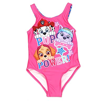 dc9b5d93fde2c Amazon.com  Nickelodeon Paw Patrol Girls One Piece Swimsuit Swimwear ( Toddler Little Kid)  Clothing