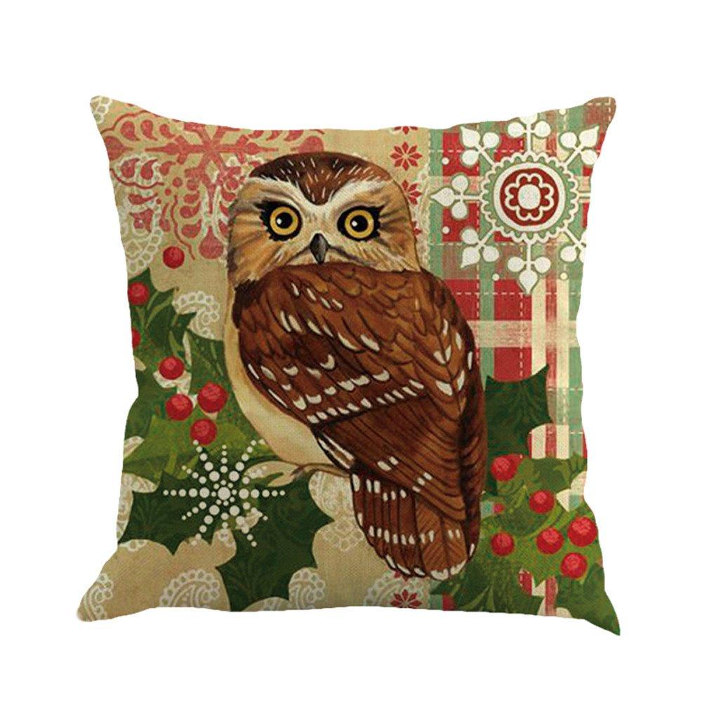 Amazon.com: Charmsamx - Fundas de almohada de lino con ...