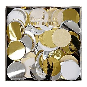 Konfetti Mix Gold Silber Weiss Grosse Konfetti Als Tischdeko Fur