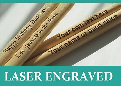 comment avoir prix de gros très loué Baguettes personnalisées, disponibles en 5A, gravées au laser, cadeau  parfait, en bois d'érable de haute qualité