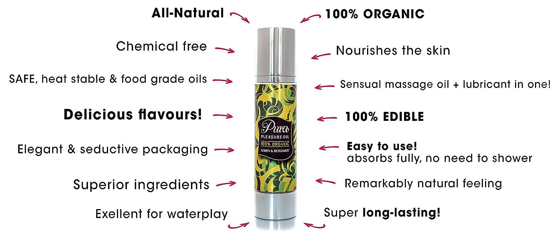 Lubricantes Sexuales y Aceite de Masaje Erotico - 100% Orgánico (Limón y Bergamota)100ml: Amazon.es: Belleza