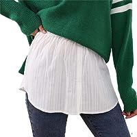 Nensiche - Faldón ajustable para imitar el bajo de las camisetas, pequeña falda informal para mujeres y chicas
