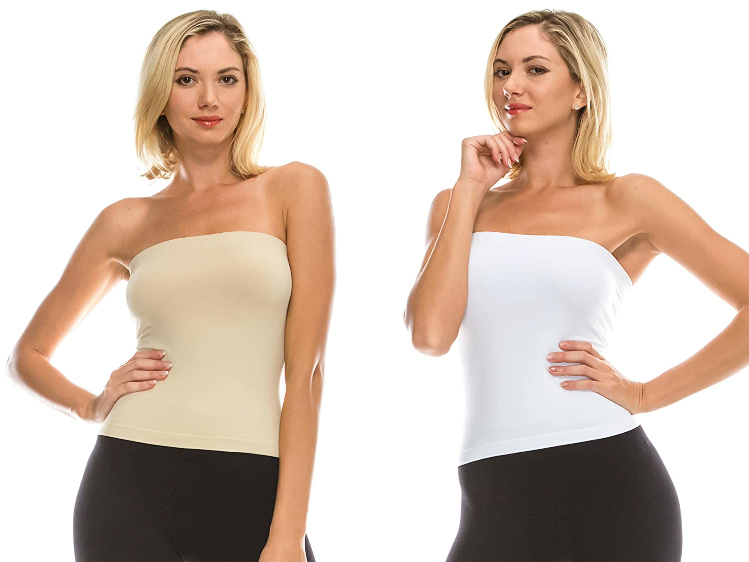 Kurve Medium Length Tube Top with Built-in Shelf Bra -Made in USA