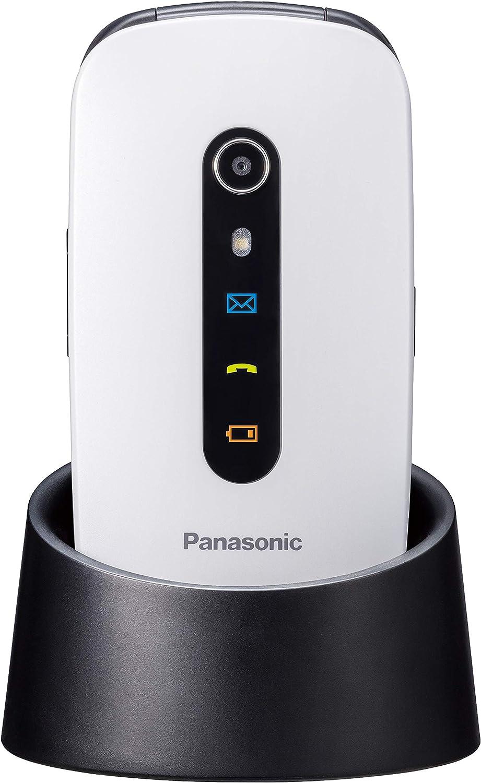 Panasonic KX-TU466EXWE - Teléfono Móvil para Mayores (Pantalla Color 2.4