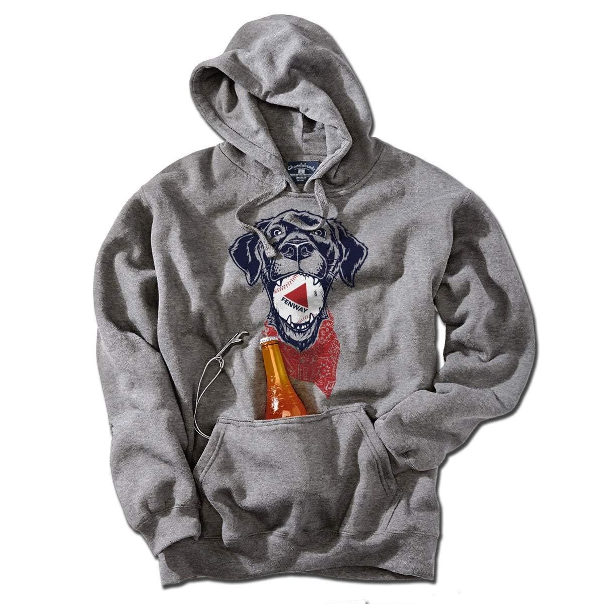 Fenway Dog Tailgater Hoodie by Chowdaheadz - Large