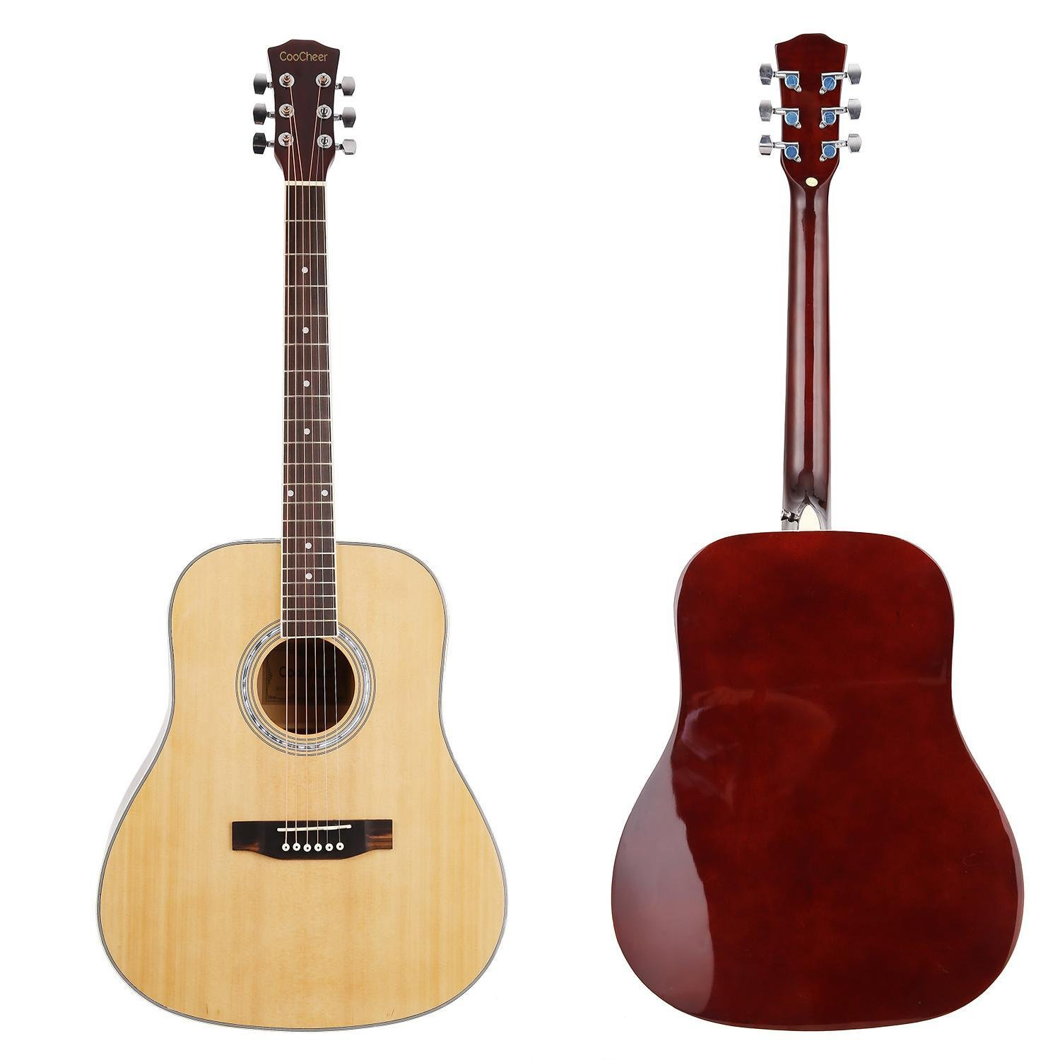 41'' Wood Beginner Acoustic Guitar with Bag Strap Pick by cosway