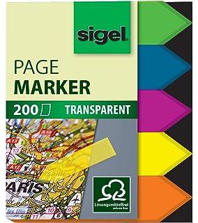 Freundlich Sigel® Haftmarker Film Grün Gelb Orange 12x50 Mm 200 Streifen GüNstige VerkäUfe Pink Blau