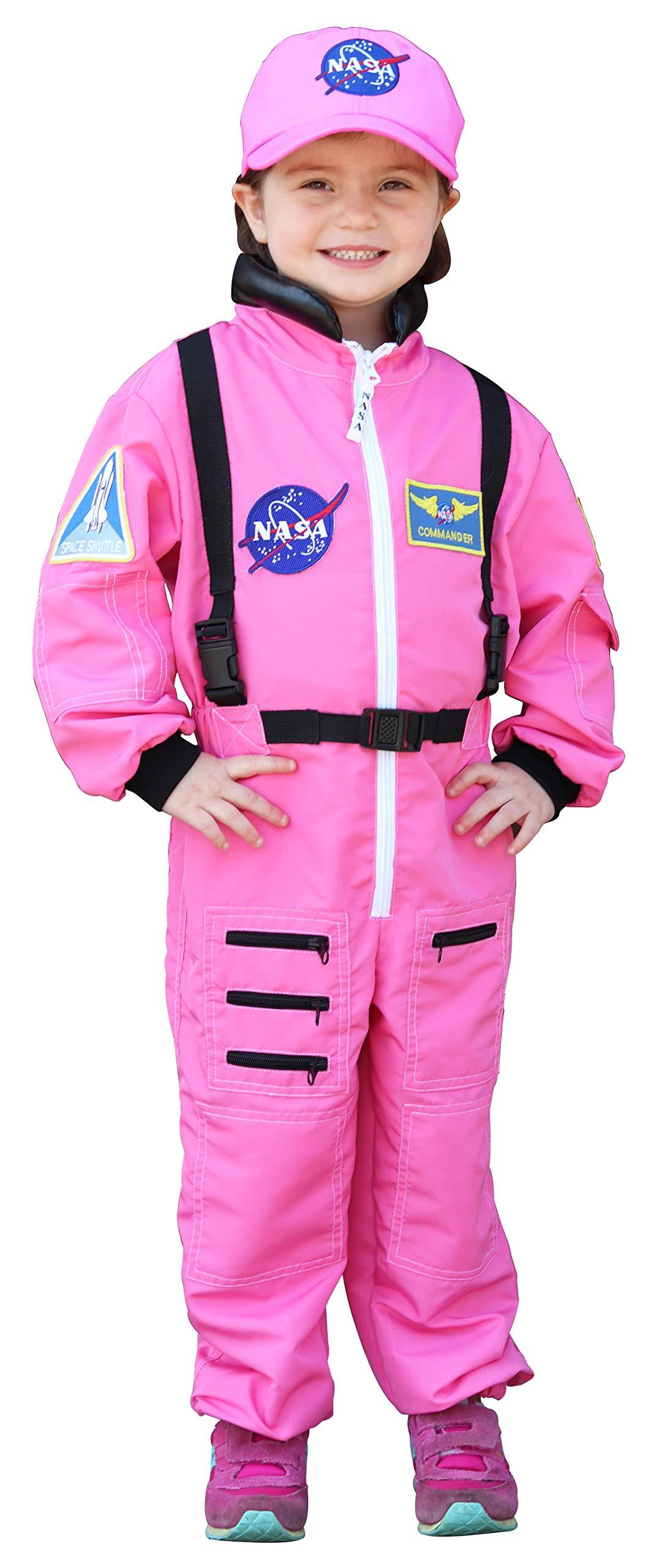 Aeromax Jr. Astronaut Suit with Cap, 6/8, Pink