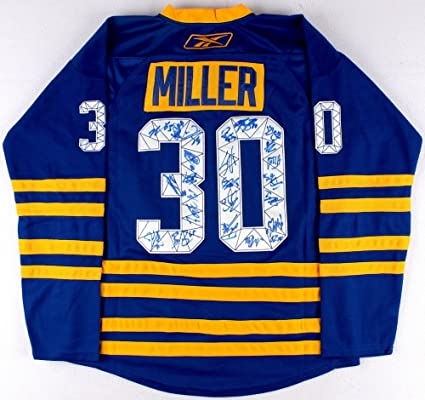 4793bd3848c Buffalo-Sabres-Team-Signed-Ryan-Miller-Throwback-Jersey at Amazon s Sports  Collectibles Store