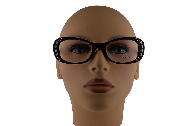 Amazon.com: Prada PR21RV Eyeglasses 51-19-140 Havana 2AU1O1 VPR21R For Women (FRAME ONLY): Clothing