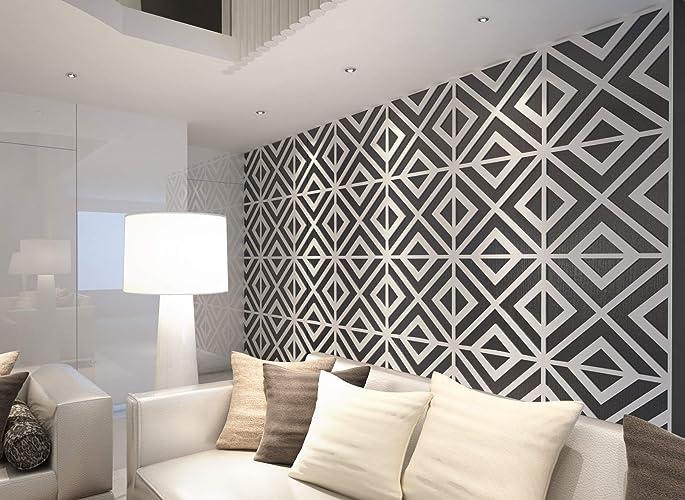 Image Unavailable & Amazon.com: HomeArtDecor Geometric Wall Art 3D Wall Panels Wall ...