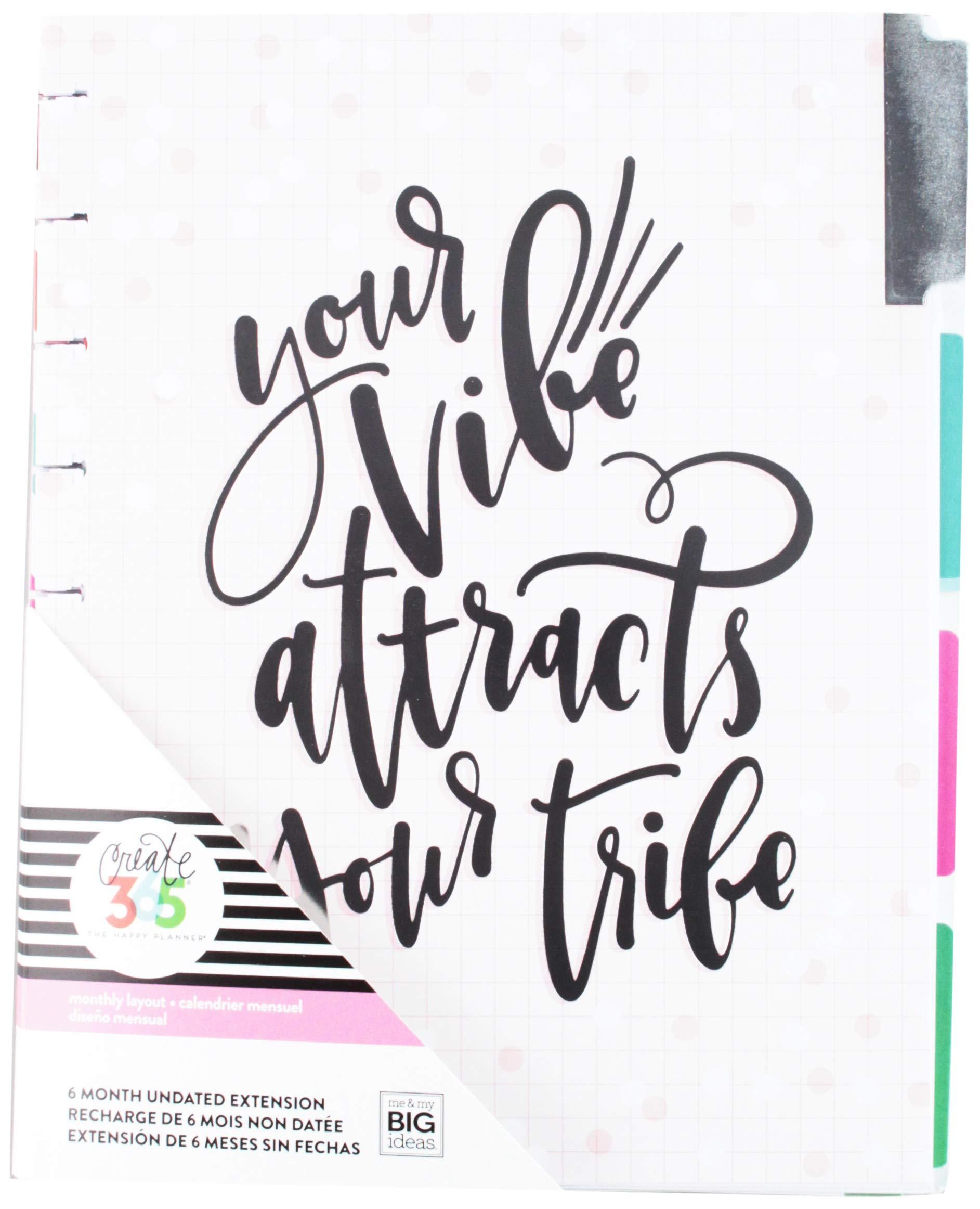 Create 365 Your Vibe 6-Month Undated Medium Planner, Multicolor
