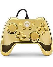 Mando con cable PowerA para Nintendo Switch Mario Oro