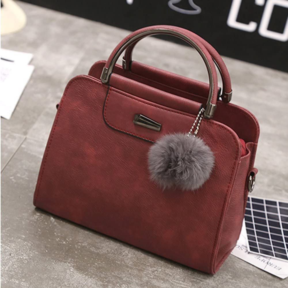 Womens Bags HOSOME Lady Women Leather Shoulder Bag Tote Purse Crossbody Messenger Handbag