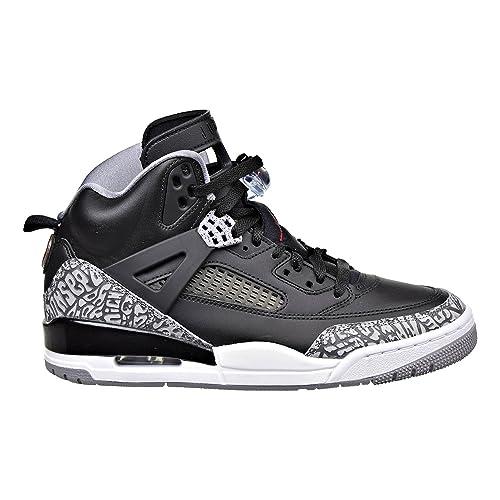 Jordan Spizike Mens Basketball Shoes BlackGreyRed 315371 034 (12.5 D(M) US)