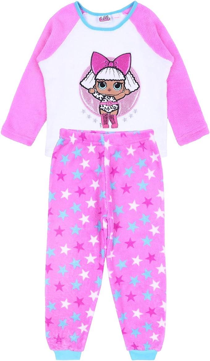 Pijama de Forro Polar Rosa LOL Surprise 4-5 años: Amazon.es ...