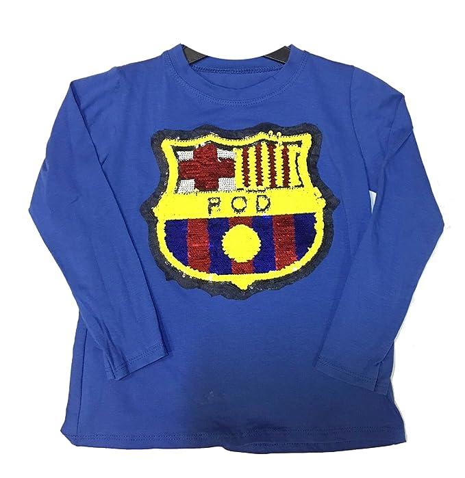 baf731231 GP Camiseta Lentejuelas FC Barcelona Talla 10  Amazon.es  Ropa y accesorios