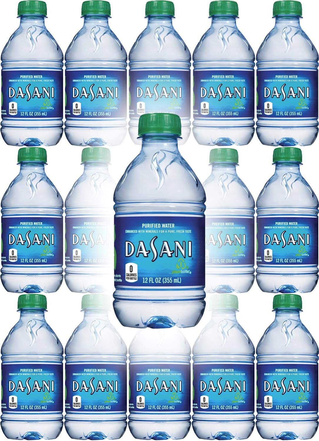 Dasani Water, Enhanced With Minerals, 12 Fl Oz (Pack of 15, Total of 180 Fl Oz)