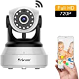 Sricam 720P HD IP Camera, Telecamera di Sorveglianza  Wireless, Notturna a Infrarossi, Audio Bidirezionale, Controllo Remoto e Email allarm, Compatibile con iOS / Android / PC