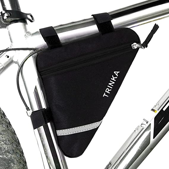 opamoo Bike Bicycle Triangle Frame Bag Bike Bicycle Storage Bag Pack Bike Accessories Water Resistant Road Mountain Cycling Strap Saddle Pouch Bag