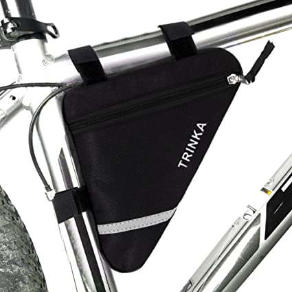 MOOCY Bicycle Bike Storage Bag Triangle Saddle Frame Strap-On Pouch for Cycling -Black  sc 1 st  Amazon.com & Amazon.com : MOOCY Bicycle Bike Storage Bag Triangle Saddle Frame ...
