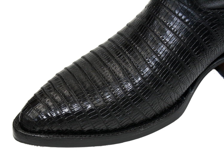 Men genuine cowhide leather lizard print J Toe cowboy boots
