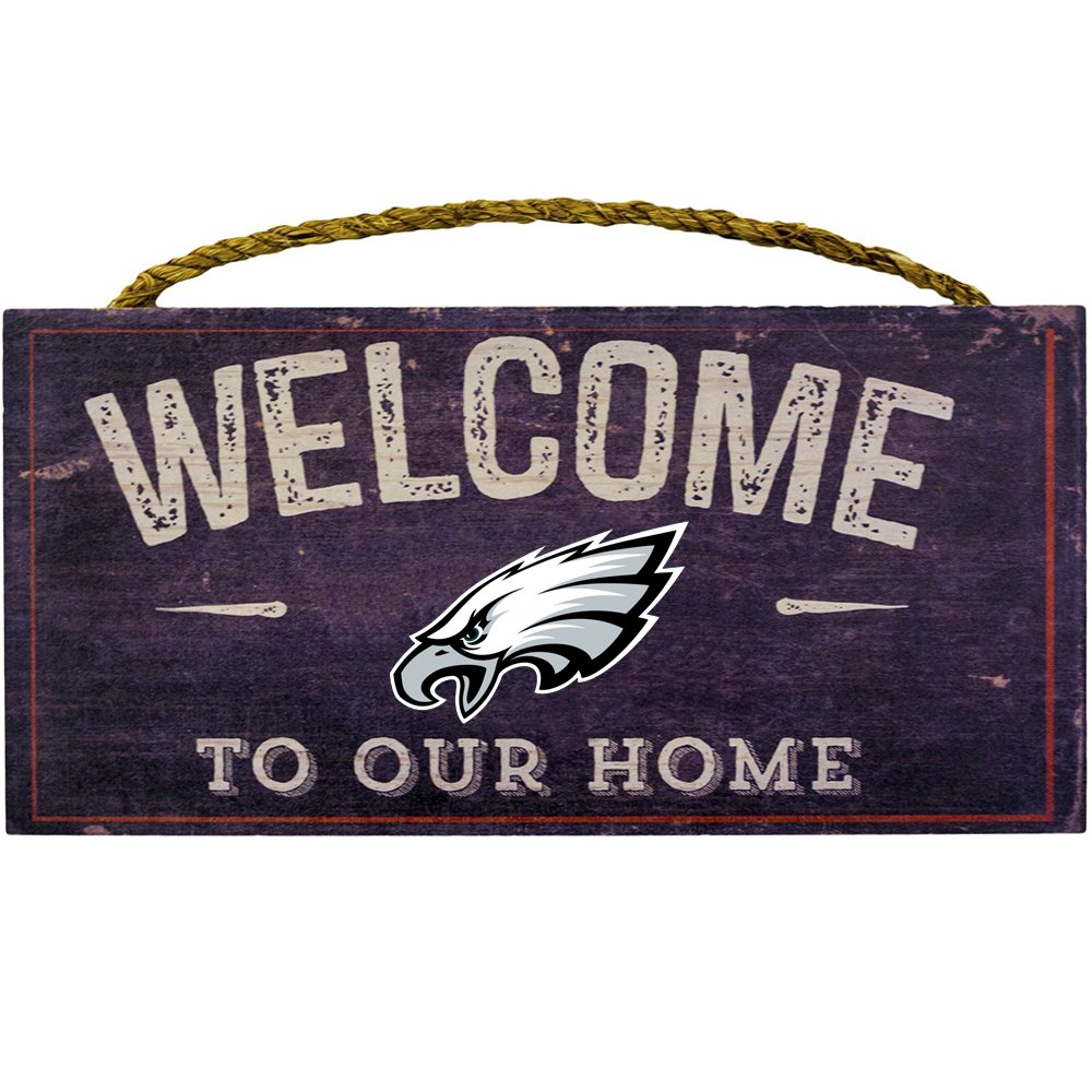 Fan Creations Welcome Philadelphia Eagles Distressed 6 x 12, 6'' x 12'', Multicolored by Fan Creations