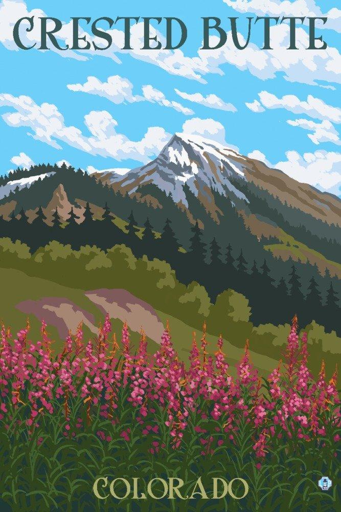 【お気に入り】 Crested Art Butte、コロラド – ヤナギランと山 Canvas Tote x Bag LANT-76288-TT Print B01GKNDTJE 12 x 18 Art Print 12 x 18 Art Print, センボクマチ:2357fb73 --- arianechie.dominiotemporario.com