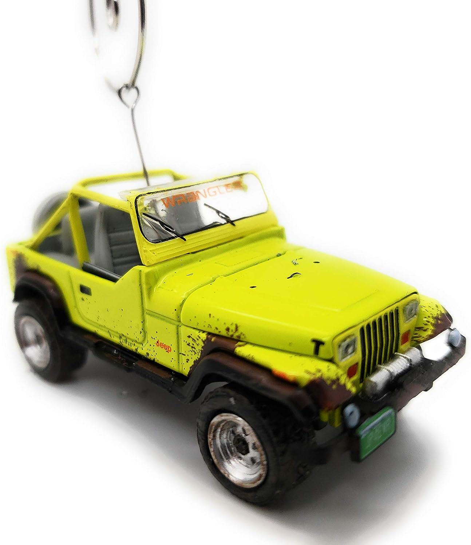 1991 for Jeep Wrangler YJ SUV Custom Christmas Ornament 1:64 Diecast Lime