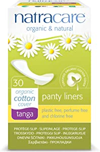 Natracare Natural Organic Thong Style Panty Liners -- 30 Pads