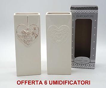 Oferta 6 aire corazón Radiador vaporizador cerámica humidificadores Estufa Calefactor: Amazon.es: Hogar
