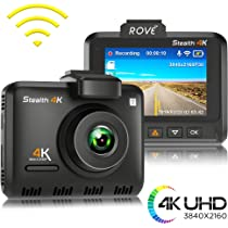 Amazon.com: Rove Stealth 4K WiFi Car Dash Cam 2.35