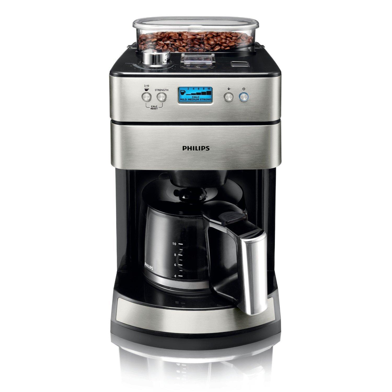 Philips HD7751/00 - Cafetera de goteo (acero, sistema de molinillo de café), color negro