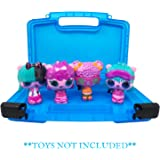 Life Made Better New & Improved Blue Compact Carrying and Travel Case, Compatible to Store Several Pop Pop Hair Surprise Figurines - Toys Not Included