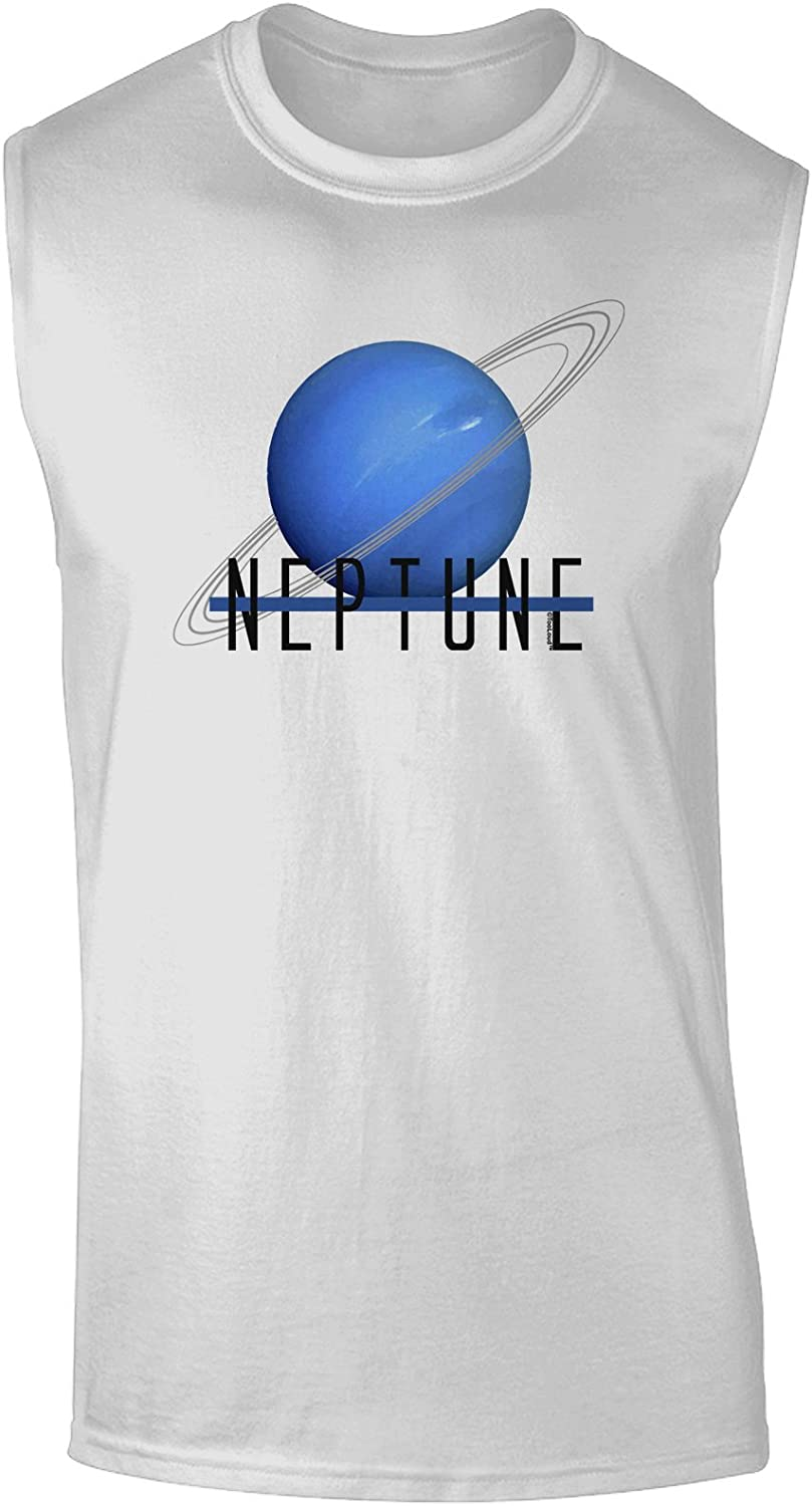 TooLoud Planet Neptune Text Only Muscle Shirt